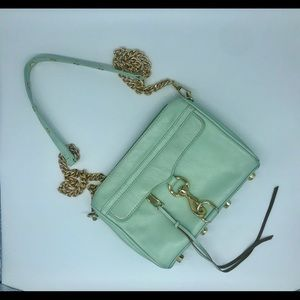 Rare mint green Rebecca Minkoff mini mac